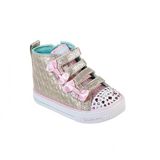 Skechers Twinkle Toes: Shuffle Lite - Quilted Beauties Gold