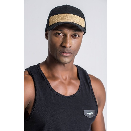 Gianni Kavanagh Cap With Gold Elastic