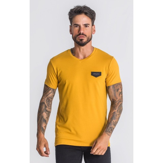 "Gianni Kavanagh Gold Core ""V"" Neck Tee"