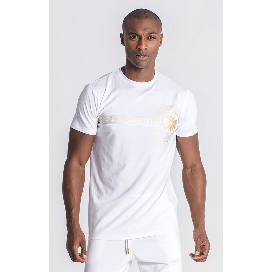 Gianni Kavanagh White Golden Heart Tee