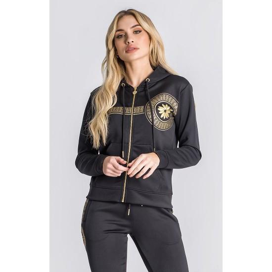 Gianni Kavanagh Black Golden Heart Hoodie Jacket