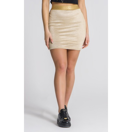 Gianni Kavanagh Gold Studio 54 Lurex Skirt